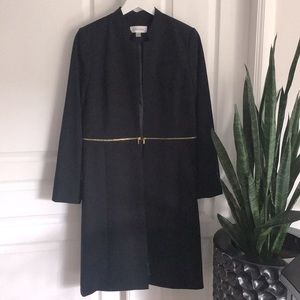 NWOT Calvin Klein open duster with zipper detail
